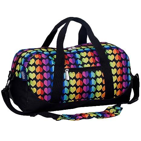 fb5ff02d0c Amazon.com  Wildkin Rainbow Hearts Overnighter Duffel Bag  Home   Kitchen
