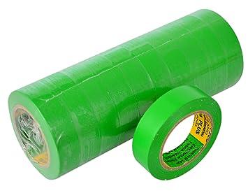 /ÖVE und SEV Isolierband 10 Rollen L/änge:10m Breite:15mm gr/ün Isoband Elektroinstallation erf/üllt VDE