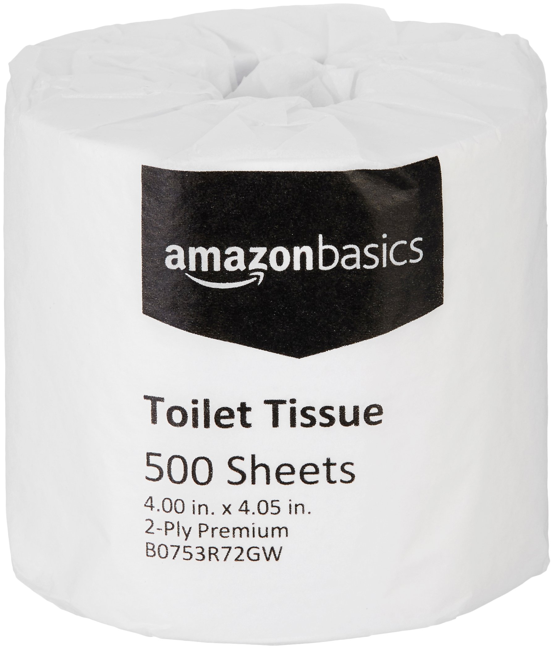 AmazonBasics Professional Value Toilet Tissue for Businesses, 2-Ply, 500 Sheets per Roll, 80 Rolls