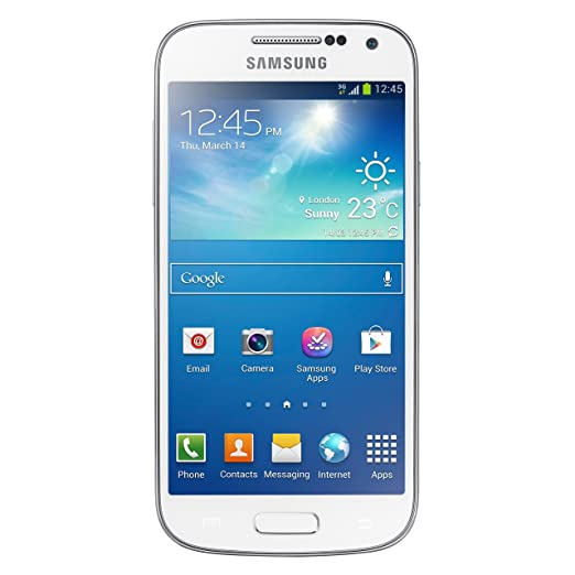 Samsung Galaxy S4 Mini GT-I9192 Factory Unlocked Cellphone, 8GB, White