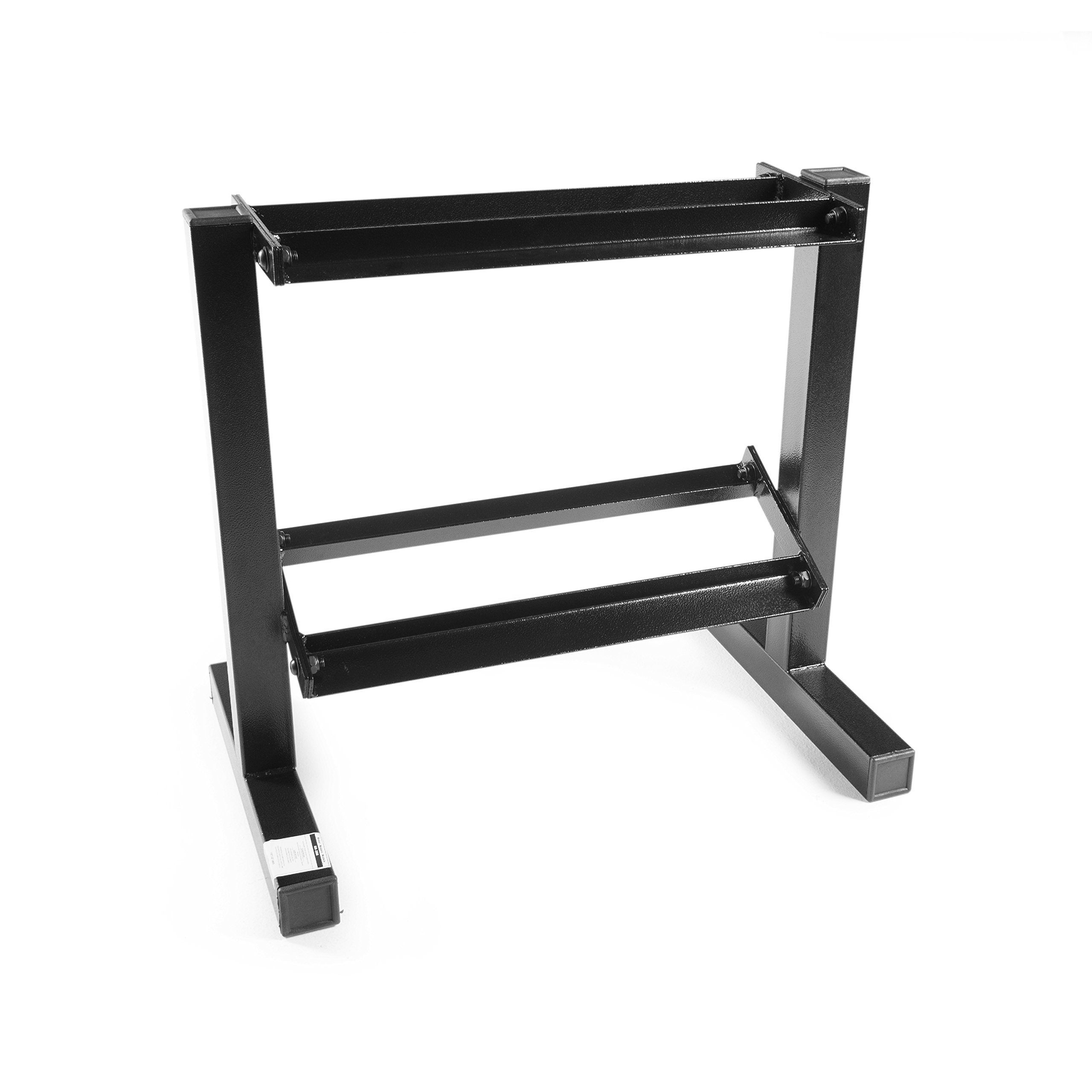 CAP Barbell Two Tier Dumbbell Rack, 20'', Black by CAP Barbell