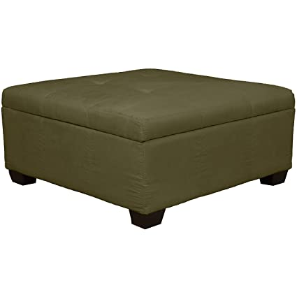 Awesome 36 X 36 X 18 High Tufted Padded Hinged Storage Ottoman Bench Microfiber Suede Olive Green Inzonedesignstudio Interior Chair Design Inzonedesignstudiocom