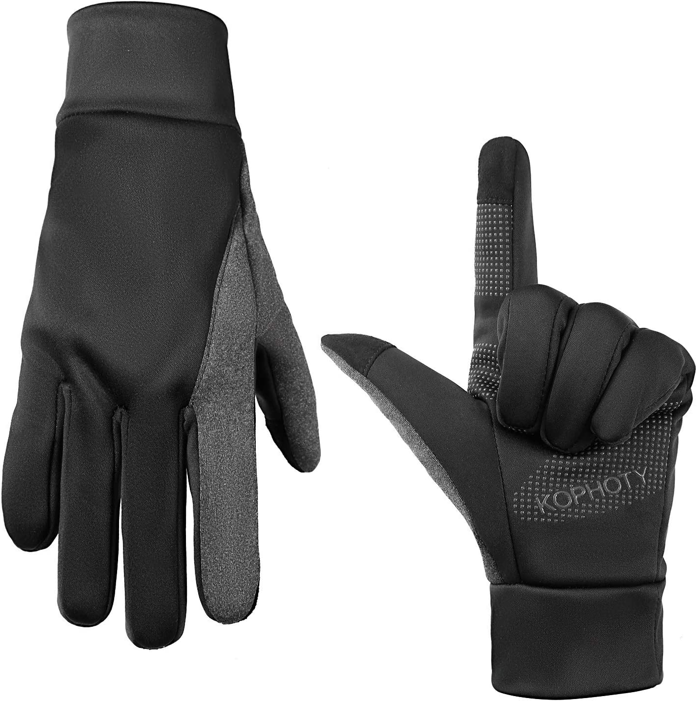 KOPHOTY Winter Gloves for Men Women Warm Touch Screen Gloves Water Resistant Windproof Thermal for Driving Running Cycling Texting