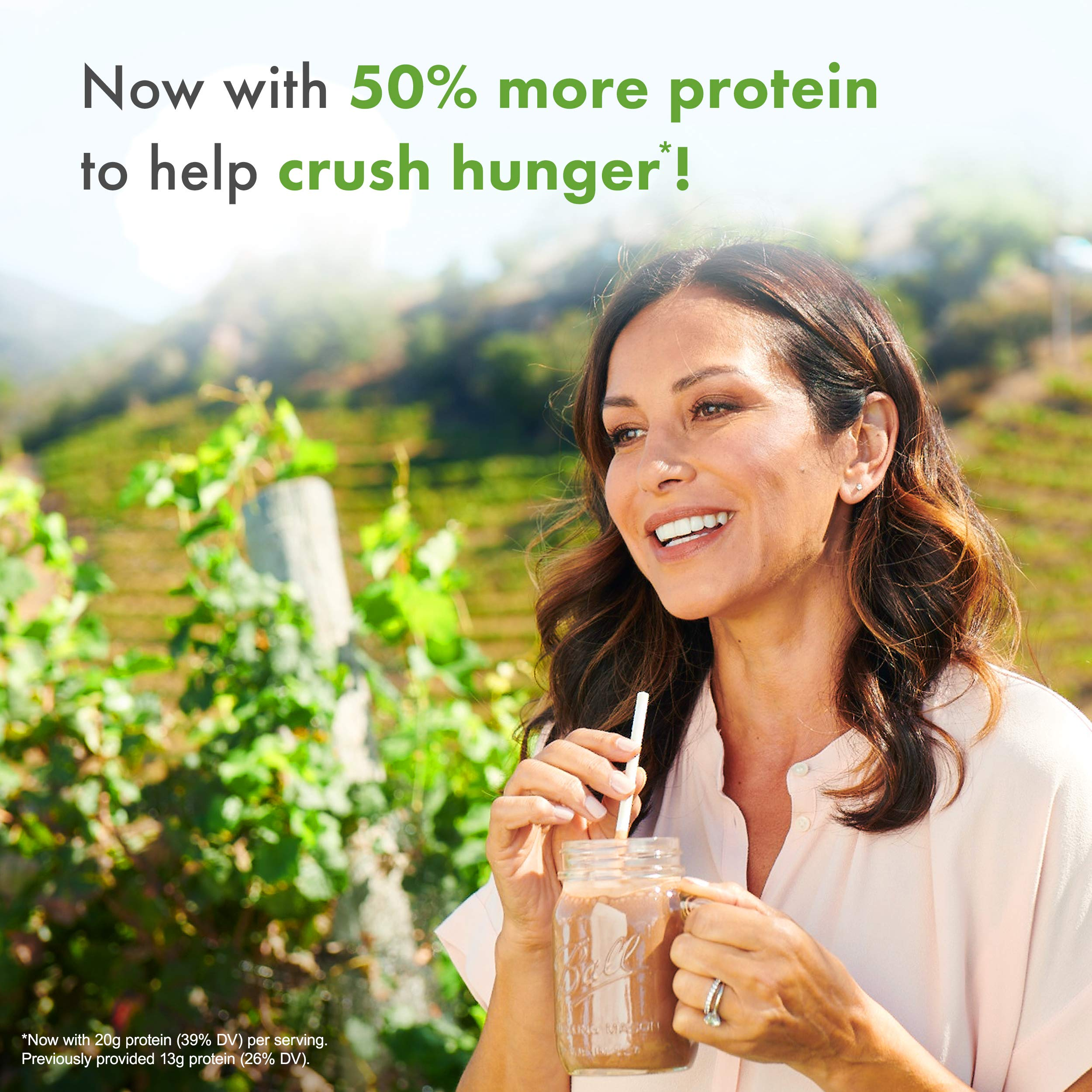 Nutrisystem® NutriCRUSH® Chocolate Shake Mix, 20 Count, Now with 50% More Protein by Nutrisystem (Image #5)