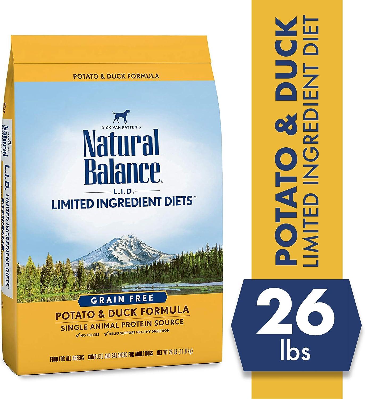 3. Natural Balance L.I.D Limited Ingredient Diets Potato & Duck Formula Grain-Free Dry Dog Food