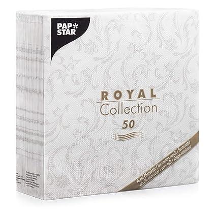 20 PapStar ROYAL-Collection Ornaments Servietten gelb 40x40 Hochzeit Taufe
