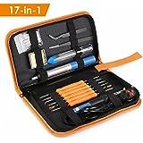 INTEY 18 Pcs Soldering Iron 60w Electronics Soldering Kit Temperature Adjustable Soldering Tool Kit