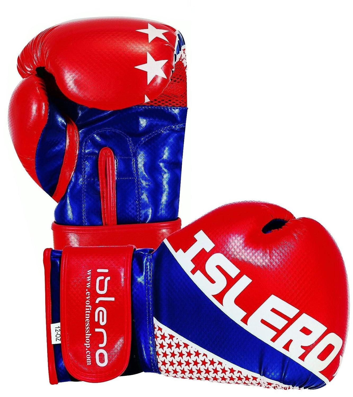 ISLERO Kick Boxing GEL Gloves MMA Punch Bag Sparring Muay Thai Fight Training UF