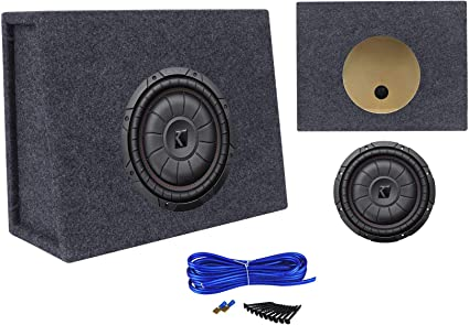 "Kicker 43CVT102 COMPVT 10/"" 800w Slim Shallow Subwoofer+Mono Amplifier+Amp Kit"