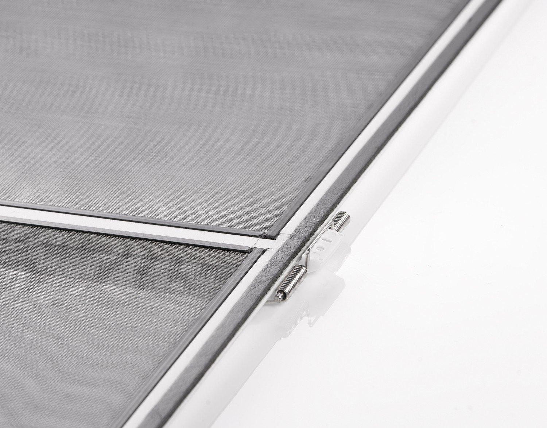 Insektenschutz Fliegengitter T/ür Alurahmen START in wei/ß braun oder anthrazit 100 x 210 cm