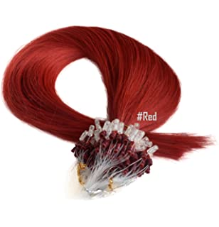 Micro ring micro loop micro bead hair extensions 18 sheryl 18 micro loop ring remy human hair extensions red 08g pmusecretfo Choice Image