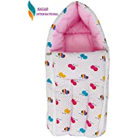 Nagar International Baby's Cotton Sleeping Bag cum quilt (Pink Cotton)
