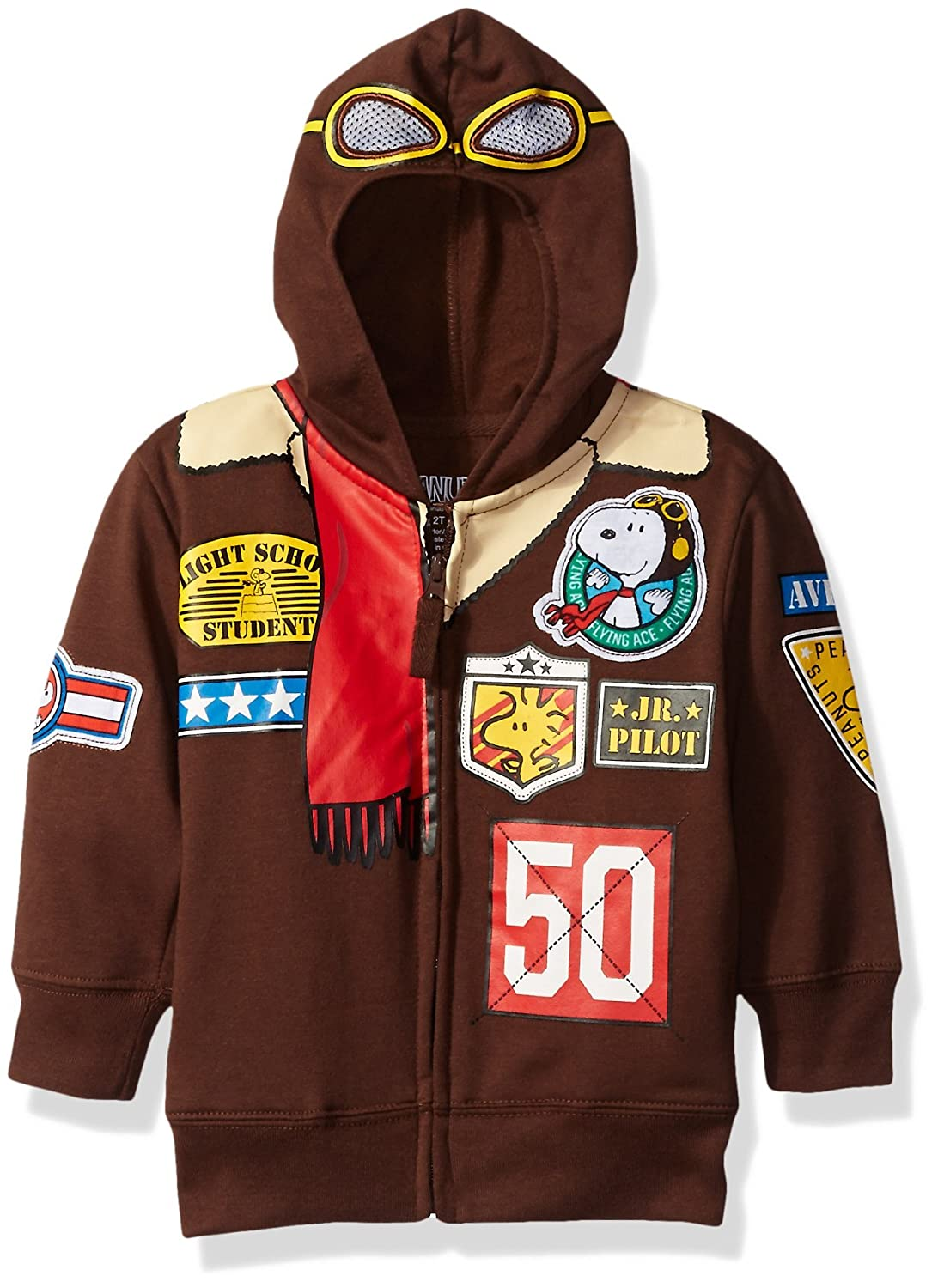 Peanuts Boys' Toddler Character Hoodie Freeze Children's Apparel