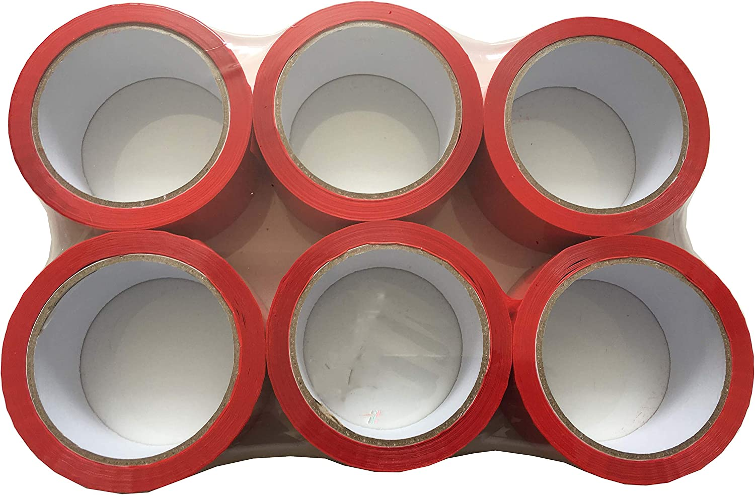 Brown Buff Tezraftaar/® 6 Rolls Parcel Packing Tape 48mm X 66M Coloured Strong Packaging Tape for Parcels and Boxes