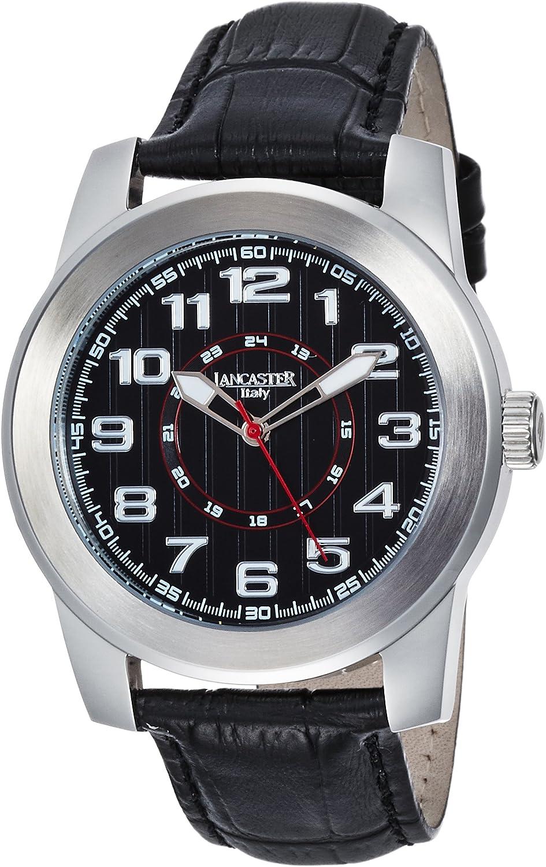 Lancaster 0636LSSNRNR - Reloj de Caballero Cuarzo Piel Negro: Amazon.es: Relojes