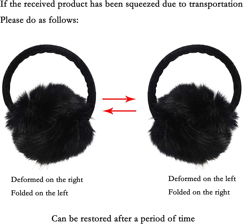 accessoire dhiver ZLYC cache-oreilles en fourrure synth/étique unisexe earwarmer earmuffs