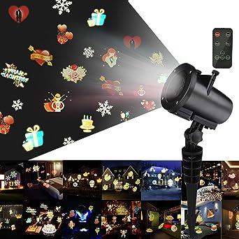 Led Weihnachtsbeleuchtung Mit Fernbedienung.Weihnachts Projektor Lichter Kingtoys Led Projektionslampe Mit 20 Austauschbare Patterns Und Rf Fernbedienung Weihnachtsbeleuchtung Mit Wasserdicht