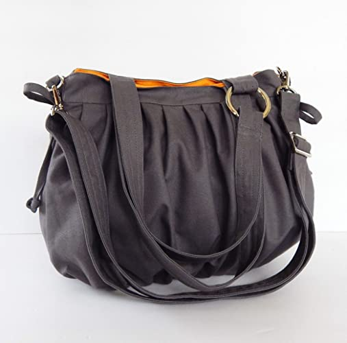 Image Unavailable. Image not available for. Color  Virine canvas pleats bag e07ceaa370fe2