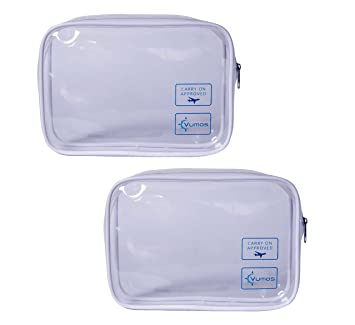 ca80a9530fda Amazon.com   TSA Approved Toiletry Bag - Clear Travel Bag for Men and Women  to Carry On your Makeup and Toiletries (2 Pack)   Beauty