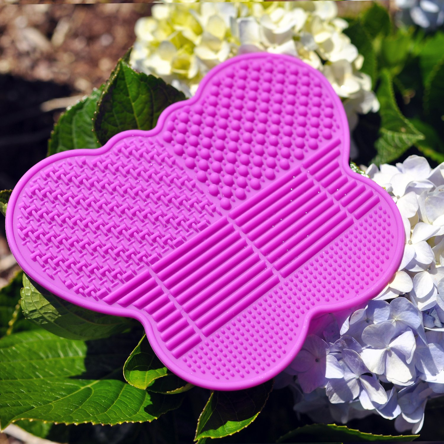 # 1 Silicone Makeup Brush Cleaning Mat -Butterfly shape Scrubber - Portable Beauty Washing Tool to Extend the Use of Your Make up and Art Painting Brushes - Best Cleaner Pad ! (Pink)