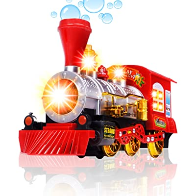 CifToys Bubble Blowing Toy Train - Battery Powered Steam Bubbles Locomotive Engine Car- Colorful Lights & Fun Sounds - Constant Motion & Automatic Change of Direction – 3 and Up: Toys & Games [5Bkhe2007179]