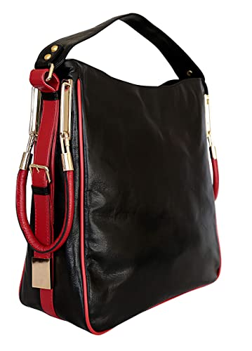 6b715310b63f4 Image Unavailable. Image not available for. Color: GENUINE LAMB LEATHER 1ST  GRADE HANDMADE DESIGNER HANDBAG FOR LADIES Admirable Quality Not Made in  China