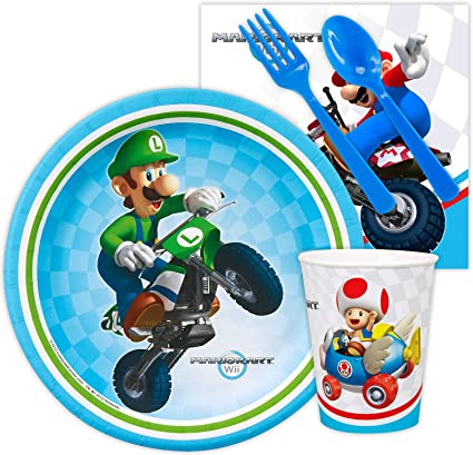 Amazon.com: Mario Kart Wii Snack Party Pack Bundle: Toys & Games