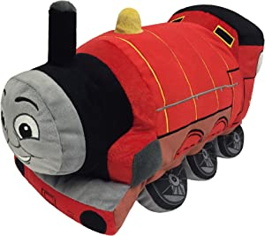 Thomas and Friends Plush Stuffed James Pillow Buddy - Kids Super Soft Polyester Microfiber, 15 inch (Official Mattel Product)
