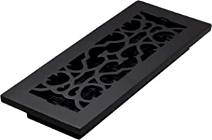 Decor Grates AC412-BLK Victorian, Cast Iron Black RegisterVictorian Floor Register, 4 x 12
