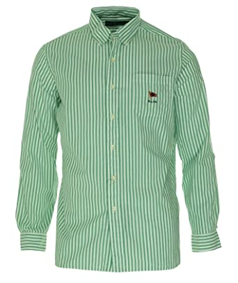 71ad4b5170 Polo Ralph Lauren Striped Oxford Mercer Shirt -Green, Medium at Amazon Men's  Clothing store:
