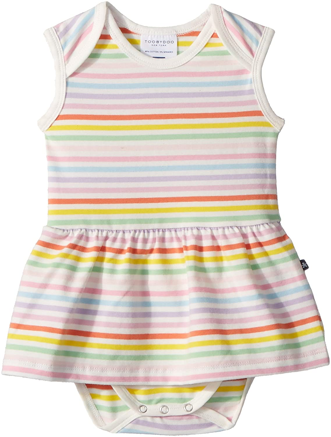 b35704460c8 Toobydoo Baby Girl s Rainbow Ballerina Romper (Infant) Multi 6-12 Months