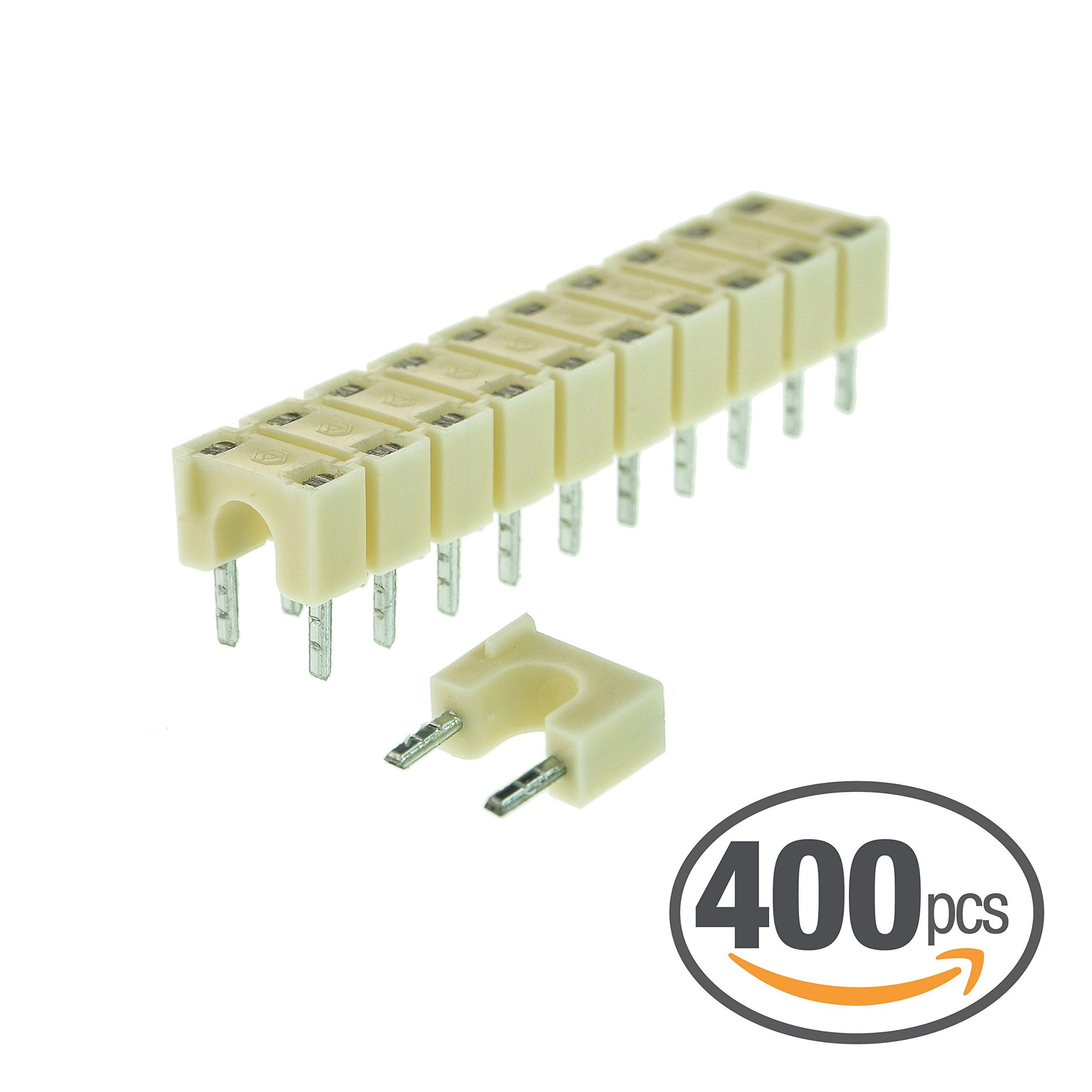 Mediabridge 5mm Cable Clips (400pcs, White) 40×10pc cartridges - For Mediabridge Cat5e Cable (Fits 0.15''-0.2'' Outer Diameter) (Part# RBC5W )