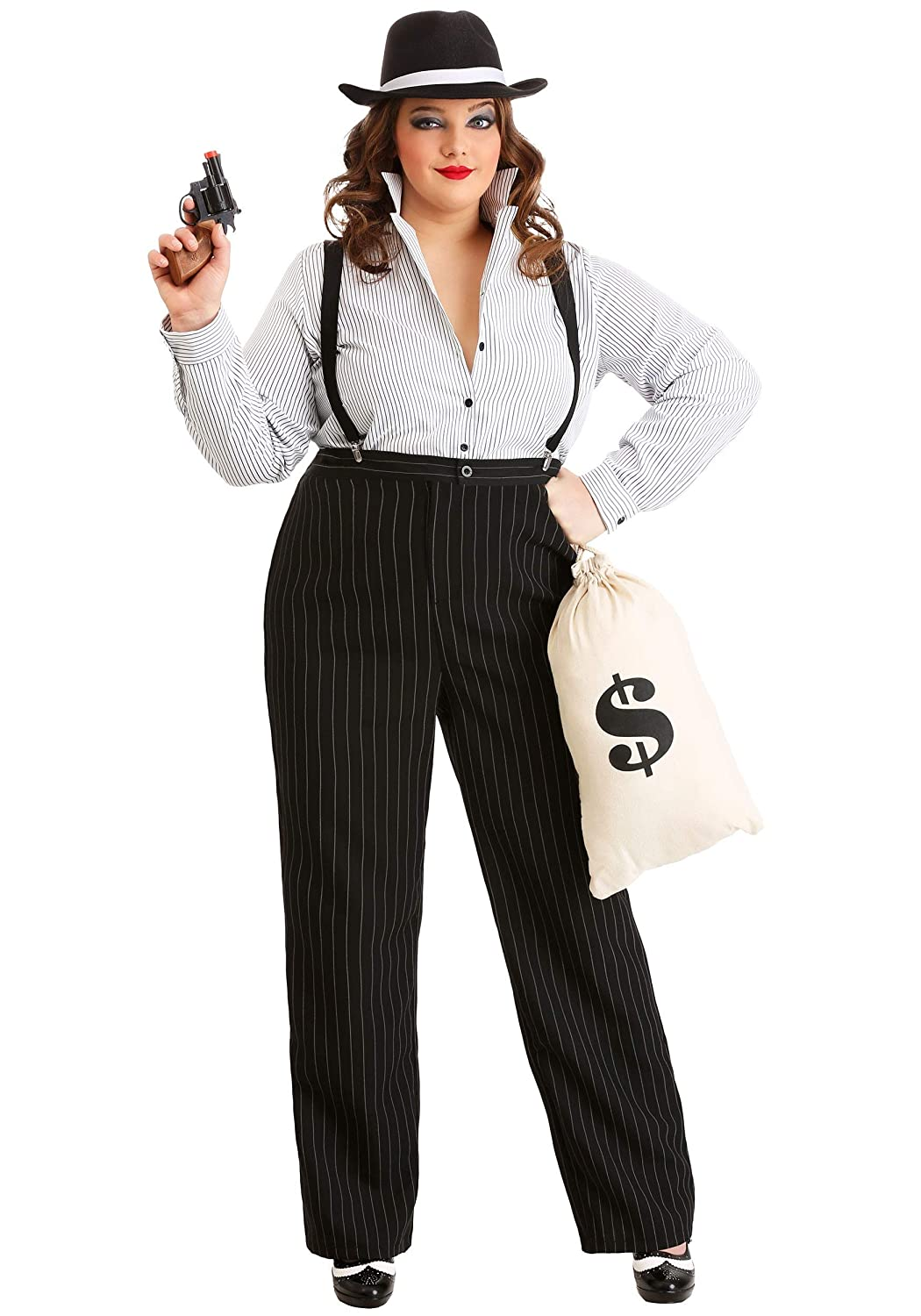1920s Style Women's Pants, Trousers, Knickers, Tuxedo 1920s Gangster Lady Costume Plus Size $44.99 AT vintagedancer.com