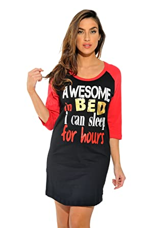 Just Love 6084-7-S Sleep Dress for Women Sleeping Shirt Nightshirt 7ce649cd1