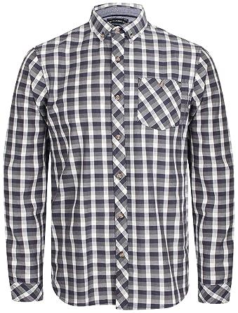 1b56a98e85 Tokyo Laundry Bridlington Checked Long Sleeve Shirt in Dark Denim/Grey S