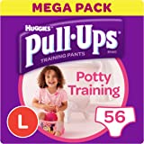 Huggies Pull-Ups Potty Training Pants for Girls, Large, 56 Pants