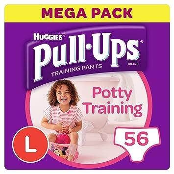 Huggies Pull-Ups Potty Training Pants for Girls, Large (56 Pants)