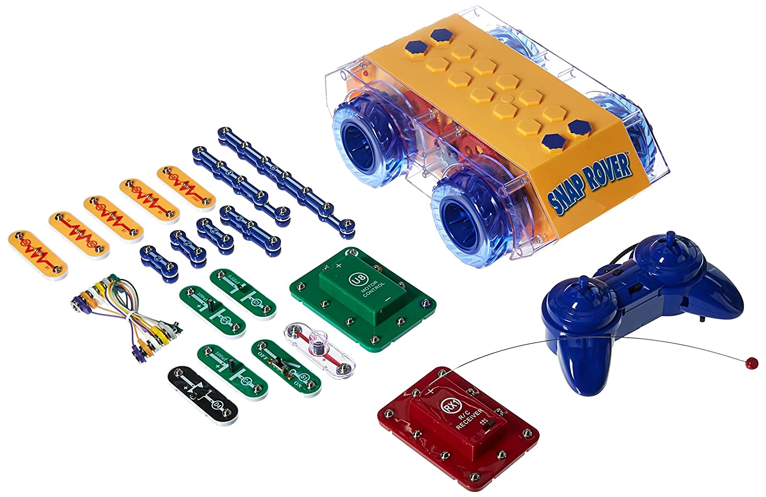 Snap Circuits R C Rover Electronics Exploration Kit Led Lighting Circuitsled Pcb Boardalumimun Buy 23 Fun Stem Projects 4 Color Project Manual 30 Modules Unlimited