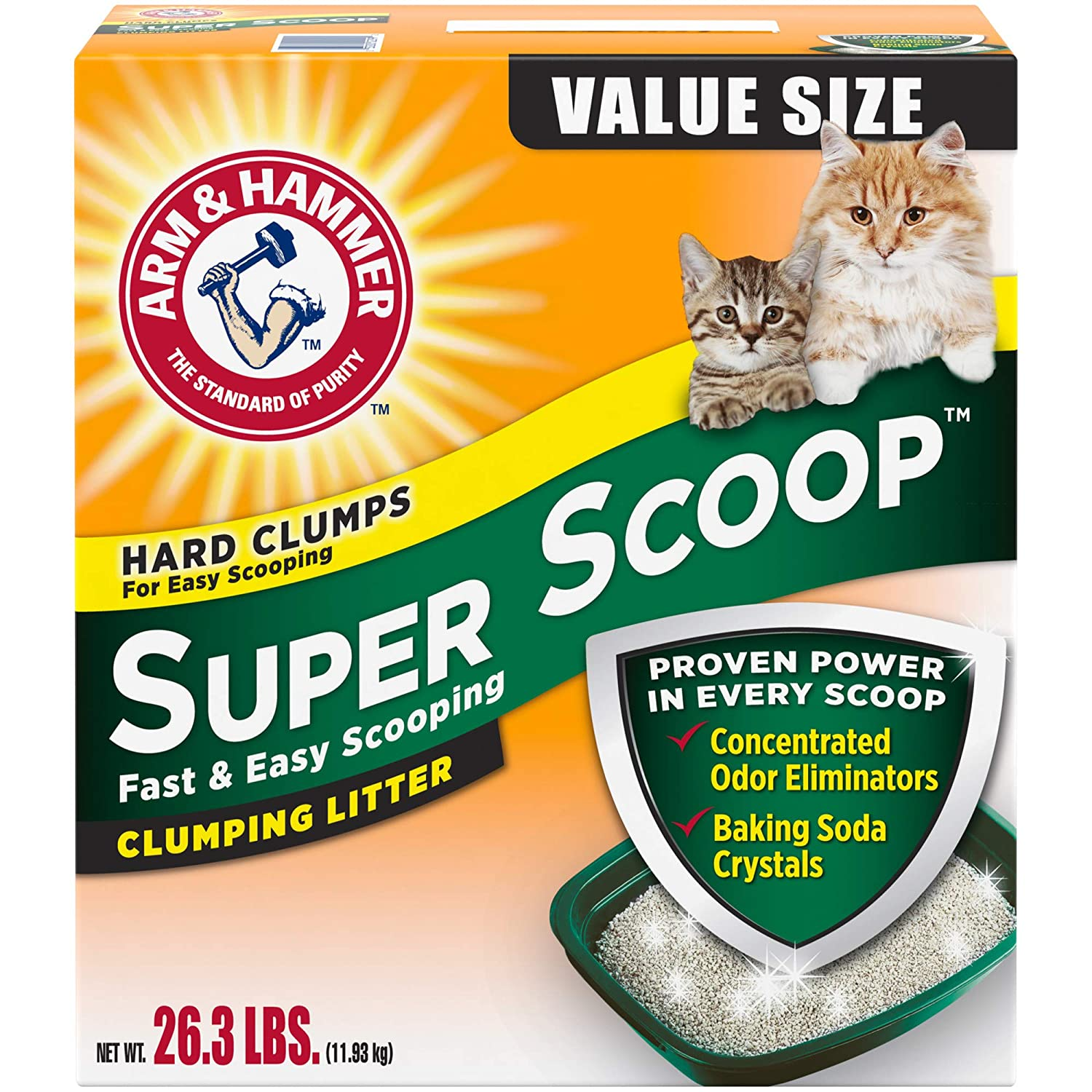 Arm & Hammer Super Scoop Clumping Litter, 26.3 lb
