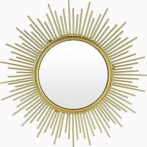 Kimisty Sunburst Mirror, Gold Wall Mirror, 12 Inch Small Mirror as Boho Decoration, Gold Wall Decor, Starburst Mirror, SUNSTAR