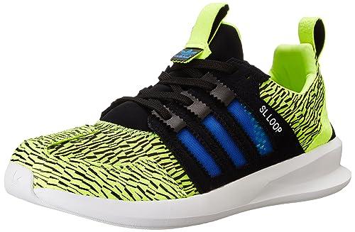 big sale 3c19d 0b13f adidas Originals Men s SL Loop Runner Fashion Sneaker, Solar Yellow Blue  Bird Black