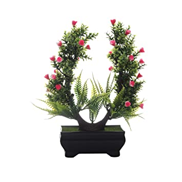 Buy Foliyaj Artificial Plant Bonsai Tree With Pot For Living Room Indoor Outdoor Decor Office And Home Decor Online At Low Prices In India Amazon In