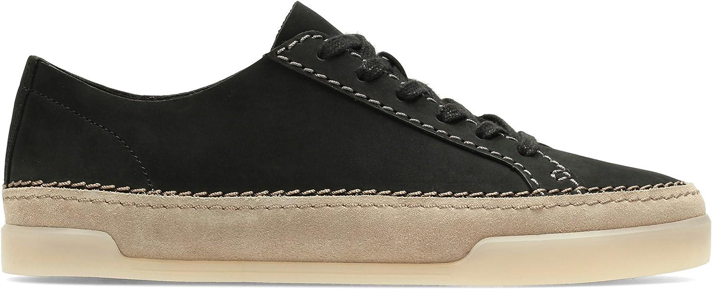 Clarks Hidi Holly Sneakers voor dames Zwart zwart zwart nubuck