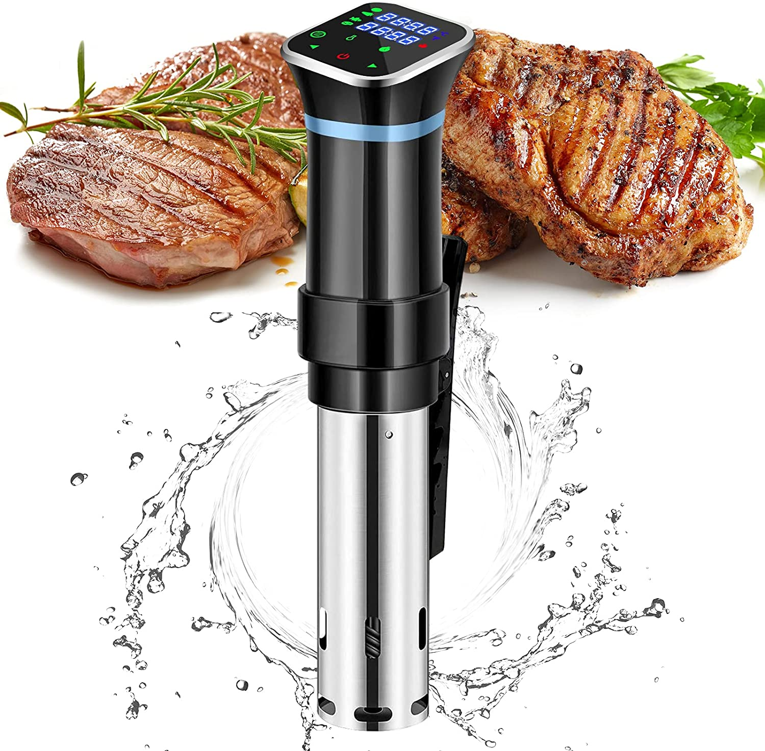 newoer Culinary Sous Vide and Precision Cooker, 1100W Immersion Circulator with SUS304 Stainless Steel Components,Digital Interface, Temperature and Timer for Kitchen