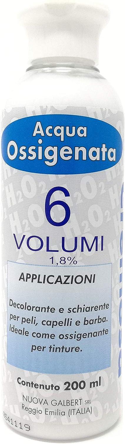 Agua Oxigenada Cremosa 6 Volúmenes para Tintes Nuova Galbert Made In Italy
