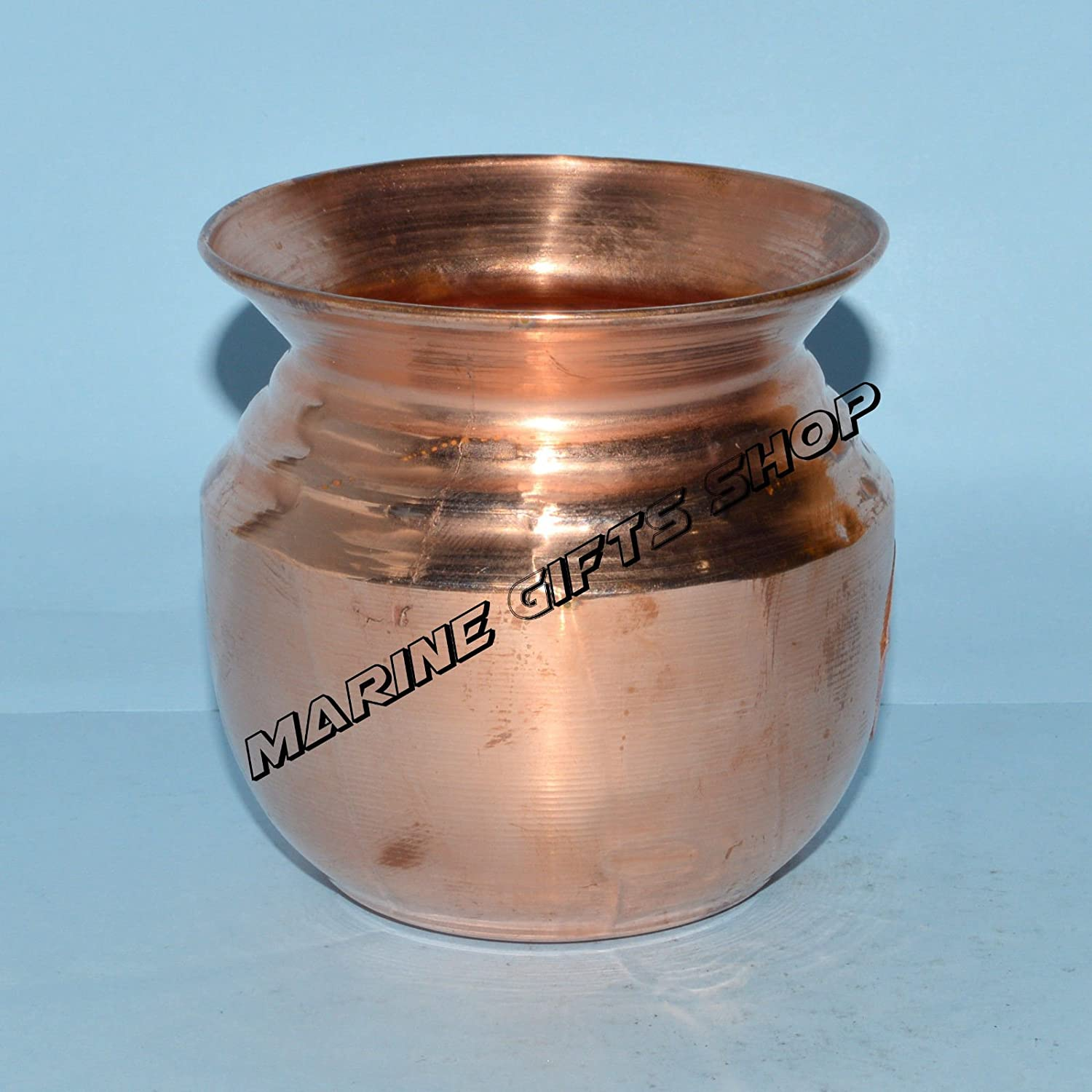 Amazon.com: Traditional Pure Copper Pooja Lota Kalash Yoga ...