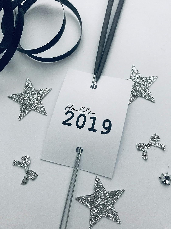 Hallo 2019 Glü cksbringer Wunderkerze-Sternensprü her