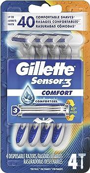 12-Count (3 X 4-Count) Gillette Sensor3 Smooth Shave Disposable Razor