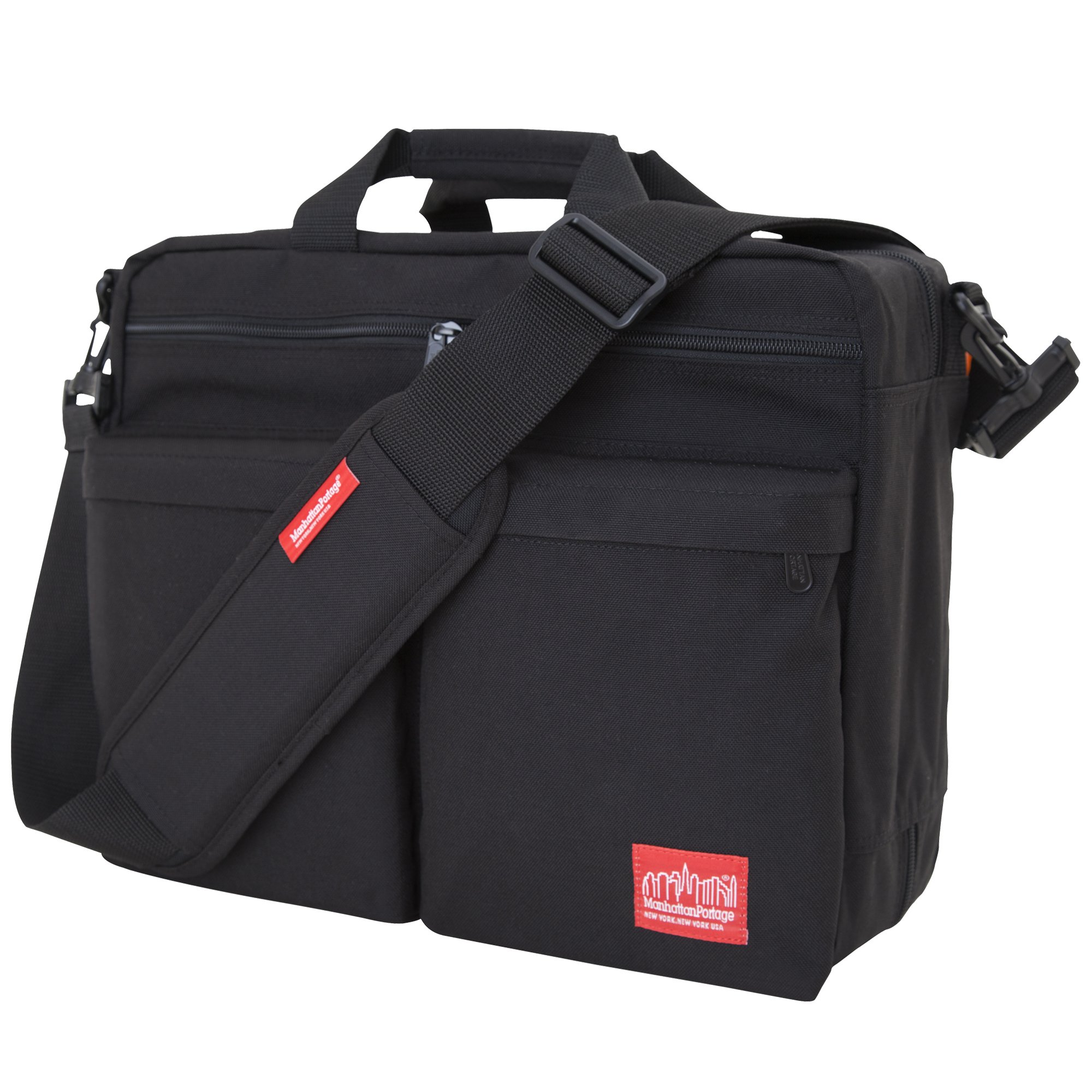 Manhattan Portage Tribeca Bag with Back Zipper, Black, One Size
