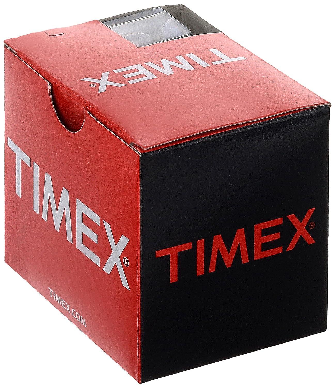 074ae40e5342 Timex mujer t2p378 Elevated Classics Rectángulo blanco metálico correa de piel  reloj  Timex  Amazon.es  Relojes